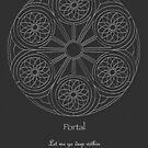Portal Mandala - Poster - White Design w/Message  by TheMandalaLady