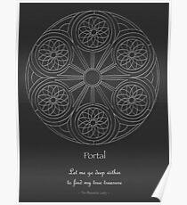 Portal Mandala - Poster - White Design w/Message  Poster