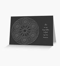 Portal Mandala - Card - White Design w/Message  Greeting Card