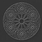 Portal Mandala - Card - White Design by TheMandalaLady