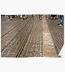 Crossing Cobblestones Poster