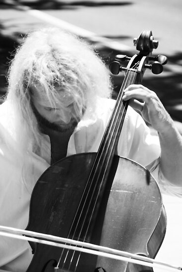 Cellist and the Hair by Audrey Farber