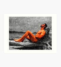 Reclined Nude Drifter Art Print