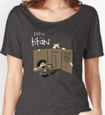 Attack on Calvin Women's Relaxed Fit T-Shirt
