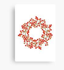 rowanberry wreath Canvas Print
