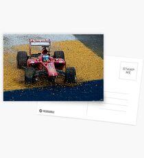 Alonso F1 Crash Postcards