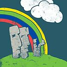 Easter Island Topsy-Turvy by giovonni808