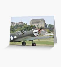 P-40M Kittyhawk G-KITT  Greeting Card