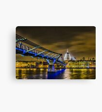 St pauls and the Millennium bridge Canvas Print