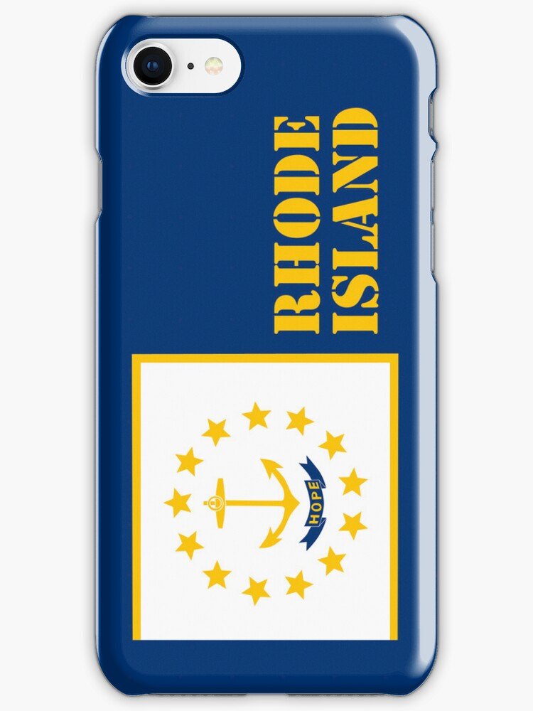 Iphone Case - State Flag of Rhode Island X by Mark Podger
