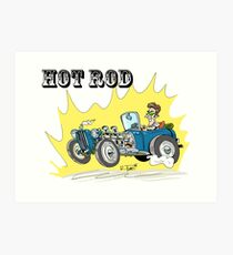 Collour hot-rod on wheels! (1) Art Print