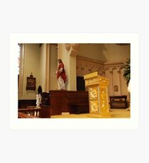 The Pulpit - St. Mary's Historical Church Art Print