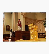 The Pulpit - St. Mary's Historical Church Photographic Print