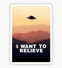 I Want to Believe by Raphael Terra Sticker