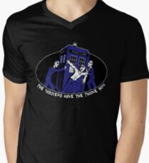 The Walkers have the Phonebox Men's V-Neck T-Shirt