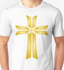 Golden Cross Christian Religious Symbol Unisex T-Shirt