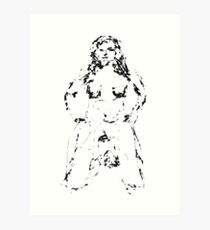 Female figure sketch 09012013 Art Print