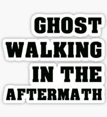 Ghost Walking Black Text Sticker