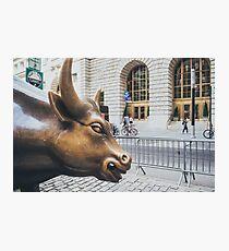 Lámina fotográfica The Charging Bull