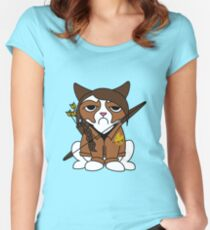 Grumpy Katniss Women's Fitted Scoop T-Shirt