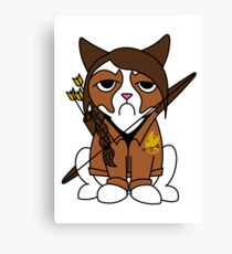 Grumpy Katniss Canvas Print