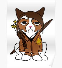 Grumpy Katniss Poster