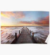 Olivers Hill Spring Sunset Poster
