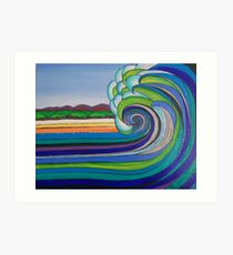 Waves by Coralie Newman Art Print
