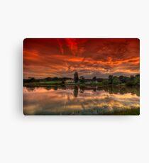 Millpond Sunset Canvas Print
