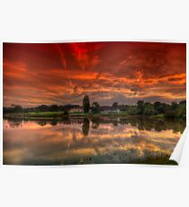 Millpond Sunset Poster