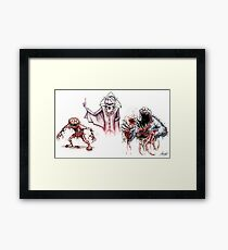 Horror Muppets Framed Print