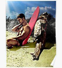 Surfer Boy Relaxing Poster