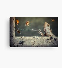 Got Him! Canvas Print