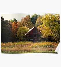 Red Barn in a Field Poster
