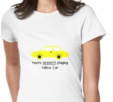 Yellow Car (Black Text) Womens Fitted T-Shirt