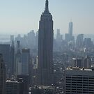 The Empire State Building and the New World Trade Center, Top of the Rock Observation Deck, New York City by lenspiro