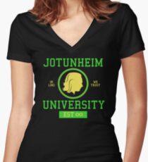 Jotunheim University Women's Fitted V-Neck T-Shirt