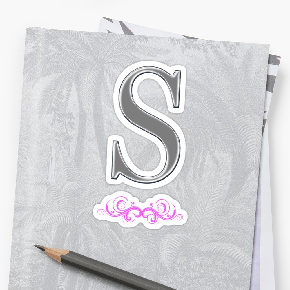 Fancy Letter S Stickers By Tiltedgiraffes Redbubble