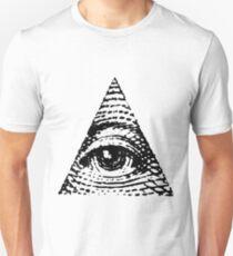 All seeing eye BLACK version Unisex T-Shirt