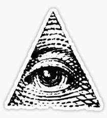 All seeing eye BLACK version Sticker