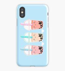 Bubbletea (blue bg) iPhone Case