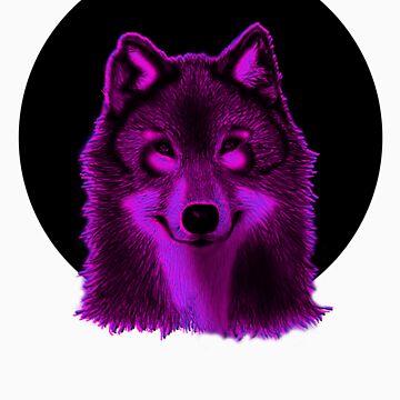 Pink wolf by iamkeelin