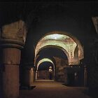 Marj in crypt San Clemente Torre di Passeri 19840407 0020 by Fred Mitchell