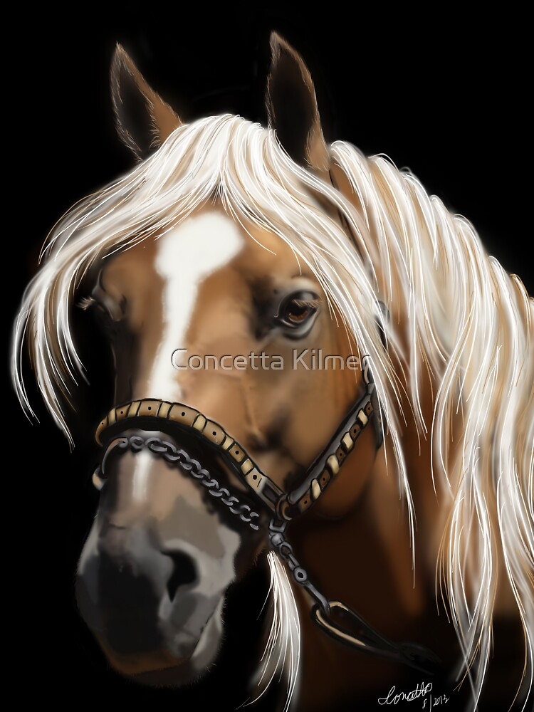 The Palomino - Horse Portrait Painting by ckdesigns