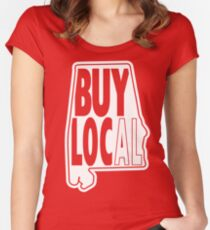 buy local white Fitted Scoop T-Shirt