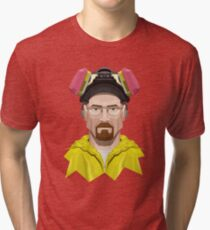 Walter White in Lab Gear Tri-blend T-Shirt