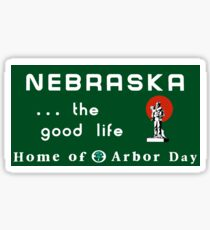 Welcome to Nebraska, Road Sign, USA  Sticker
