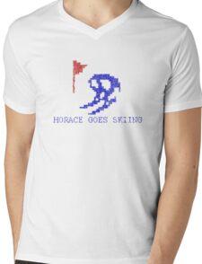 Vintage Look Retro Arcade Horace Goes Skiing Mens V-Neck T-Shirt