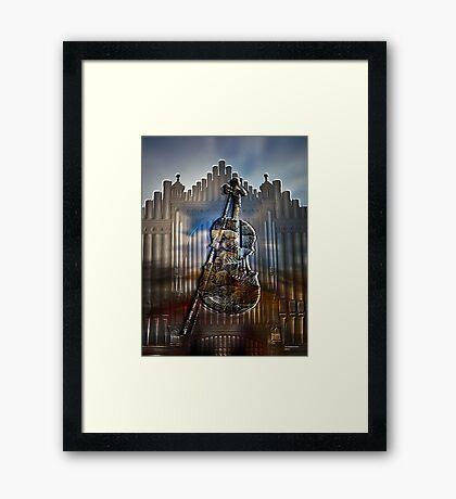Shell of music Framed Print