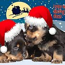 Puppy Christmas: I saw Mummy Kissing Santa Claus by taiche